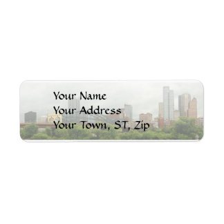 City - Pittsburg PA - The grand city of Pittsburg Return Address Label