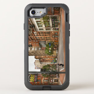City - Pittsburgh PA - Running late OtterBox Defender iPhone 8/7 Case