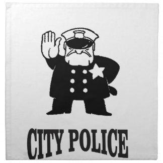 city police man napkin
