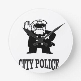 city police man wallclock