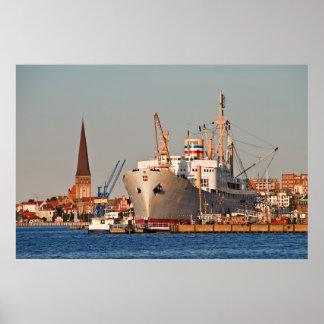 City port of Rostock (Germany) Poster