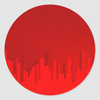 City Redscape Round Sticker