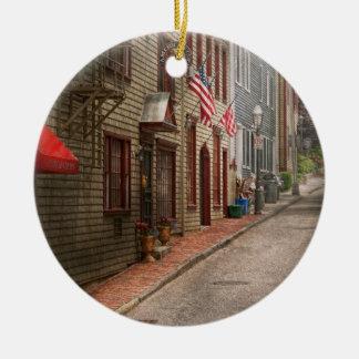 City - Rhode Island - Newport - Journey  Ornament