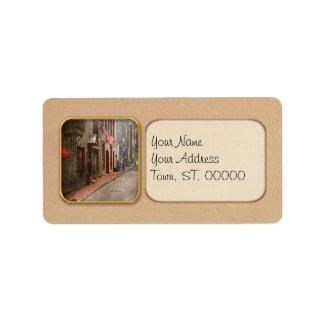 City - Rhode Island - Newport - Journey  Address Label