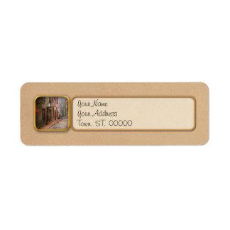 City - Rhode Island - Newport - Journey  Return Address Label