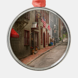 City - Rhode Island - Newport - Journey  Silver-Colored Round Decoration