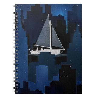 City Sailing at Night Note Books