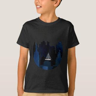 City Sailing at Night T-Shirt
