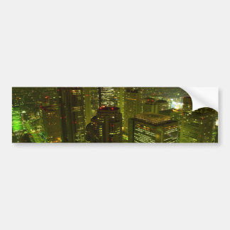 City Scape Bumper Sticker