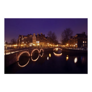City scenic in Amsterdam Netherlands Poster