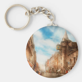 City - Scotland - Tolbooth operator 1865 Basic Round Button Key Ring
