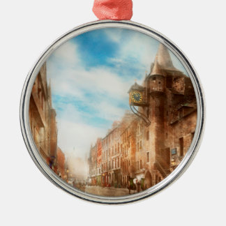 City - Scotland - Tolbooth operator 1865 Metal Ornament