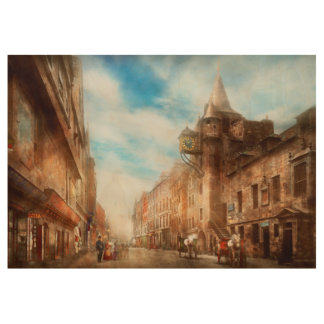 City - Scotland - Tolbooth operator 1865 Wood Poster