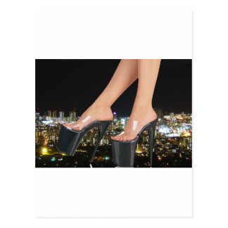 City Shoes - Stiletto Art Postcard