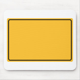 City sign for own text mouse pad