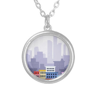 City Silver Plated Necklace