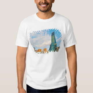 city skyline, a landmark office tower, completed t shirt