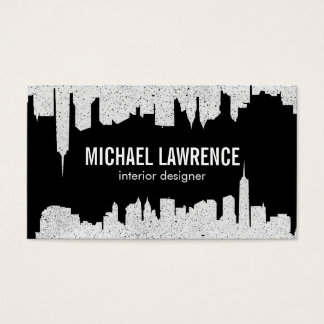 City Skyline   Abstract (speckled) Business Card