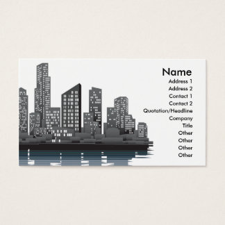 City skyline business card background