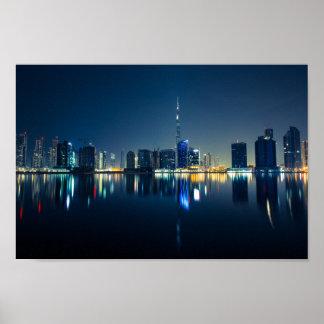 City Skyline by night poster