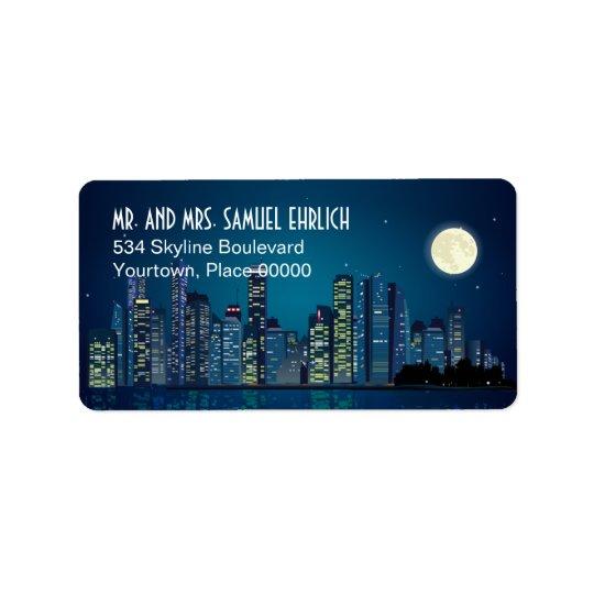 City Skyline Return Address Address Label