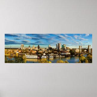 City Skyline Sacramento California Poster