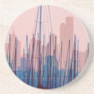 City Skyline Sandstone Coaster