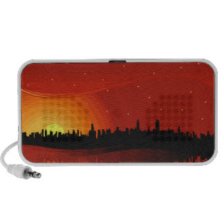 City Skyline Sunset Travelling Speaker
