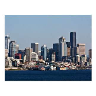 City Skyline Town Postcard