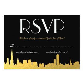 City Skyline Wedding RSVP Card 13 Cm X 18 Cm Invitation Card