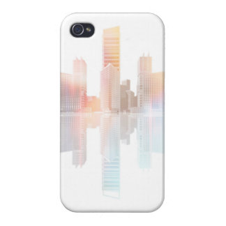City skyscrapers and office buildings case for iPhone 4