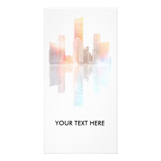 City skyscrapers and office buildings photo greeting card