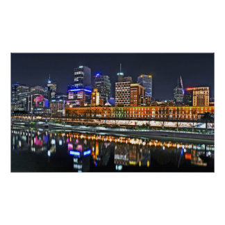 City So Bright Panoramic Poster