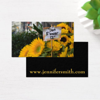 City Sunflowers NYC Flower Photography Nature Business Card