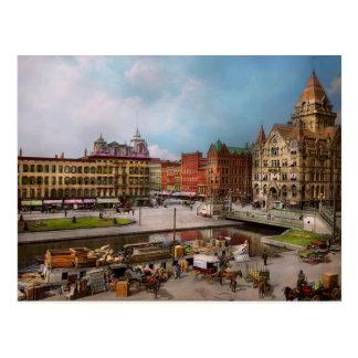 City - Syracuse NY - The Clinton Square Canal 1905 Postcard