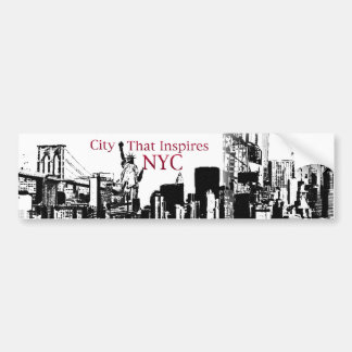 City that inspires NYC Car Bumper Sticker