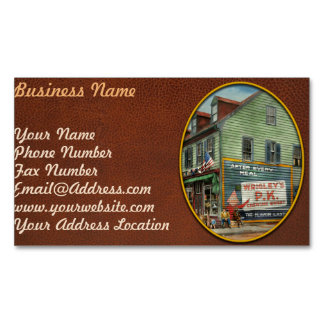 City - VA - C&G Grocery Store 1927 Magnetic Business Cards