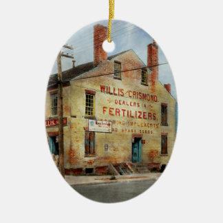 City - VA - Dealers in Fertilizers Ceramic Ornament