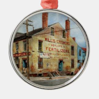City - VA - Dealers in Fertilizers Metal Ornament