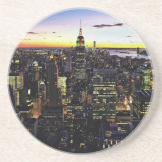 City View Night Drink Coasters