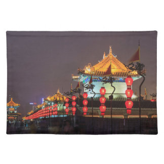 City Wall Building At Night Placemat