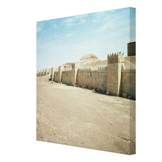 City walls stretched canvas print