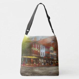 City - Washington DC - Life on 7th St 1912 Crossbody Bag