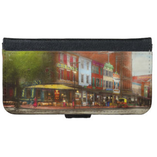 City - Washington DC - Life on 7th St 1912 iPhone 6 Wallet Case