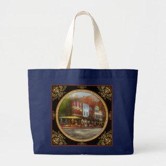 City - Washington DC - Life on 7th St 1912 Large Tote Bag