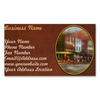 City - Washington DC - Life on 7th St 1912 Magnetic Business Card
