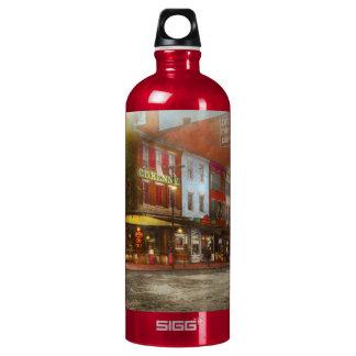 City - Washington DC - Life on 7th St 1912 Water Bottle