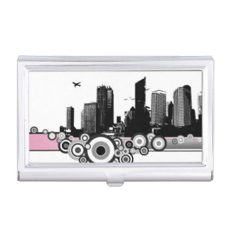 City with stripe business card cases