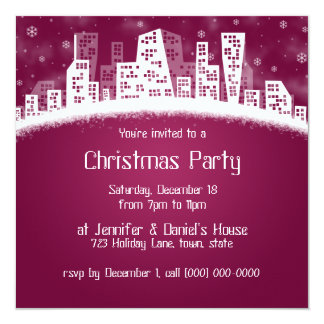City Xmas Party Invitations