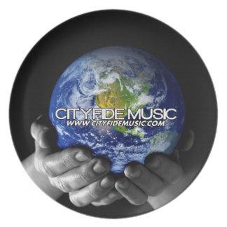 CITYFIDE MUSIC DINNER PLATES